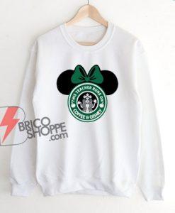 This Teacher Runs On Coffee And Disney Sweatshirt – Funny Disney Sweatshirt On Sale – Minnie Mouse Sweatshirt