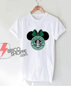 This Teacher Runs On Coffee And Disney T-shirt - Funny Disney Shirt On Sale - Minnie Mouse T-Shirt