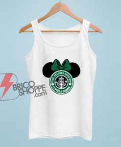This Teacher Runs On Coffee And Disney Tank Top - Funny Disney Tank Top On Sale - Minnie Mouse Tank Top