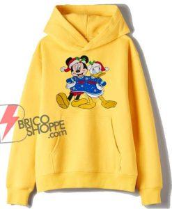 Walt Disney Christmas MICKEY MOUSE DONALD DUCK Hoodie - Christmas Hoodie - Funny Hoodie