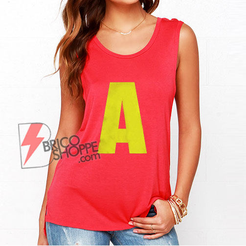 A Letter Alvin Chipmunks Tank Top - Funny Tank Top On Sale