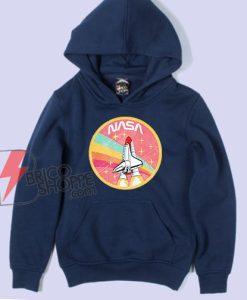 NASA ROCKET Pastel Color Hoodie - Funny NASA Hoodie On Sale