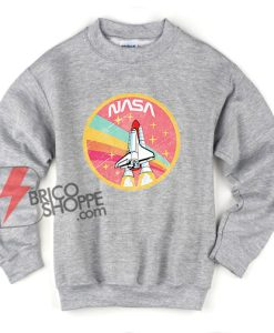 NASA ROCKET Pastel Color Sweatshirt - Funny NASA Sweatshirt On Sale