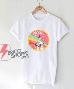 NASA ROCKET Pastel Color T-Shirt - Funny NASA Shirt On Sale