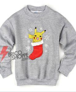 Pokémon Christmas Sweatshirt – Pokemon Pikachu Christmas Sweatshirt – Funny Sweatshirt