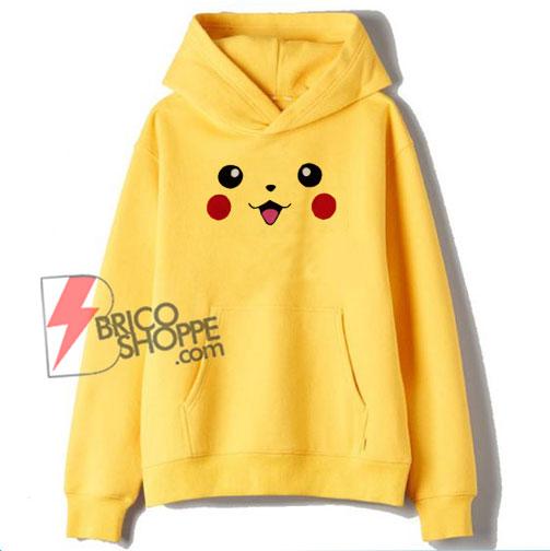 Pokémon Hoodie - Pokemon Pikachu Face Hoodie - Funny Hoodie