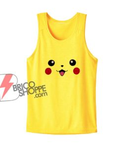 Pokémon Tank Top– Pokemon Pikachu Face Tank Top – Funny Tank Top