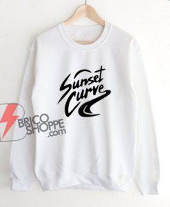 Sunset Curve Sweatshirt - Funny Sweatshirt On Sale