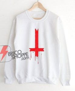 Upside Down Inverted Cross Sweatshirt – Funny Sweatshirt