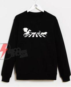 Abbey Road Game Of Thrones Sweatshirt - Funny Sweatshirt On Sale