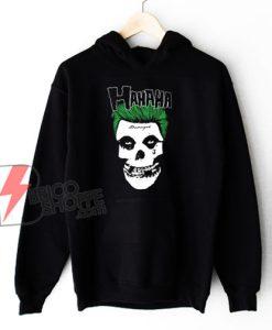 Joker misfits Hoodie -misfits Hoodie - Joker Hoodie - Parody Hoodie - Funny Hoodie