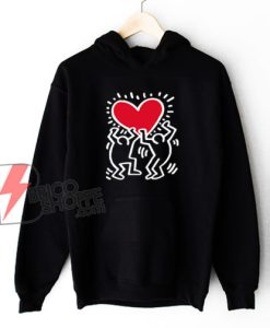 Keith Haring Big Love Hoodie - Funny Valentine Gift Hoodie - Funny Hoodie