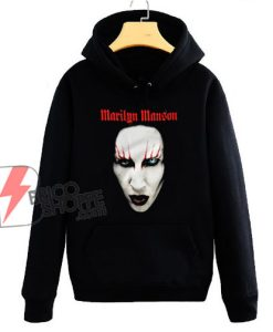 Marilyn Manson face Hoodie - Funny Hoodie On Sale