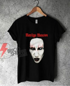 Marilyn Manson face Shirt - Funny Shirt On Sale