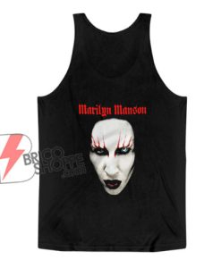 Marilyn Manson face Tank Top - Funny Tank Top On Sale
