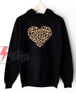 Mothers Day Hoodie - Leopard Heart Hoodie - Mothers Day Gift For Mom - Mothers Day Hoodie - Heart Hoodie - Love Heart Hoodie - Mama Hoodie