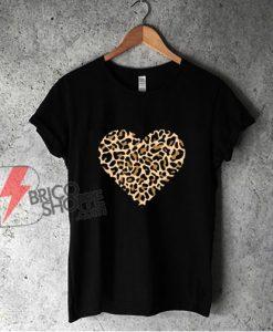 Mothers Day Shirt - Leopard Heart Shirt - Mothers Day Gift For Mom - Mothers Day T-Shirt- Heart Shirt - Love Heart Shirt - Mama Shirt