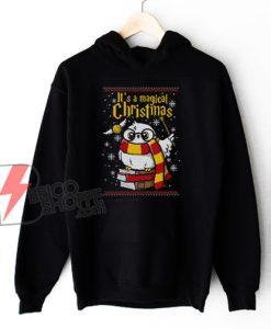 Owl Magic Christmas Ugly Hoodie - Funny Christmas Harry Potter Hoodie - Christmas Hoodie
