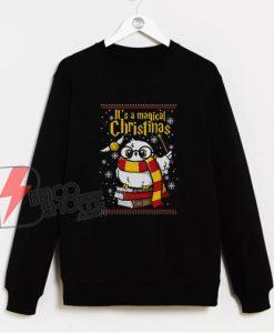 Owl Magic Christmas Ugly Sweatshirt - Funny Christmas Harry Potter Sweatshirt - Christmas Sweatshirt