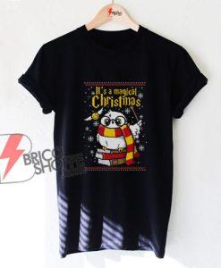 Owl Magic Christmas Ugly T-Shirt - Funny Christmas Harry Potter Shirt - Christmas Shirt