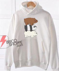 We Bare Bears Mountain Hoodie - Funny Bears Hoodie - Funny Hoodie