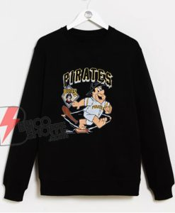 90s Pittsburgh Pirates Fred Flintstone MLB Sweatshirt - Funny Sweatshirt On Sale