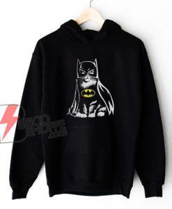 Batman Cat Hoodie - Cat Lover Hoodie - Parody Hoodie - Funny Hoodie On Sale