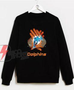Cool-Miami-Dolphins-Gloves-Logo-Sweatshirt