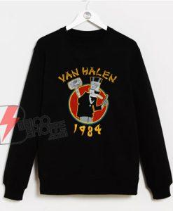 The Little Man 1984 Sweatshirt - Van Helen 1984 Sweatshirt - Vintage Van Helen Sweatshirt