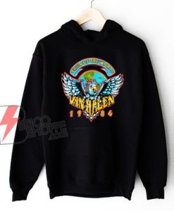 Van Halen Tour Of The World Band Hoodie - Van Halen Hoodie - Funny Hoodie
