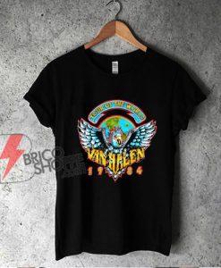 Van Halen Tour Of The World Band T-Shirt- Van Halen Shirt - Funny Shirt