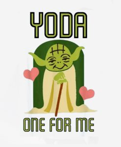 Star-Wars-Yoda-One-For-Me-Camiseta-de-manga-corta