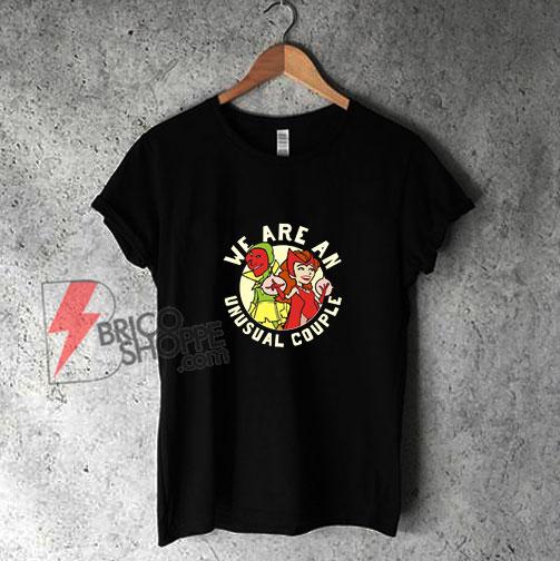 Template-Brico-v9Marvel-WandaVision-We-Are-An-Unusual-Couple-Shirt---Funny-Shirt