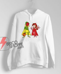 WandaVision Scarlet Witch And Vision Hoodie