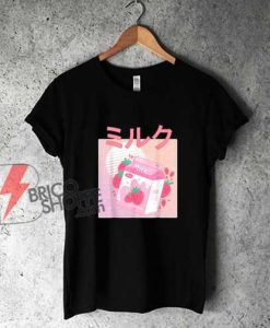 Japanese-Kawaii-Strawberry-Milk-Shake-T-Shirt---Funny-Shirt