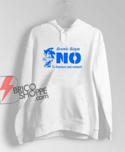 Sonic Says No To Fascism And Racism Hoodie - Funny Hoodie