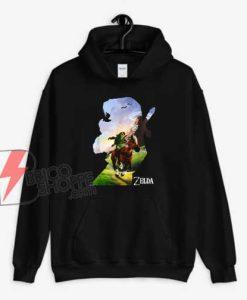 Zelda-Link-Epona-Ride-Silhouette-Hoodie