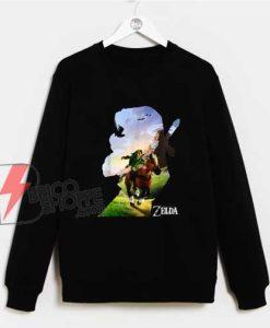 Zelda-Link-Epona-Ride-Silhouette-Sweatshirt