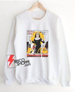 Nunchuck Nun Sweatshirt - Funny Sweatshirt