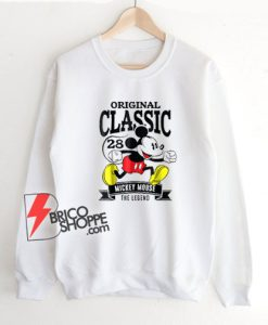Original Classic Mickey Mouse 1928 Sweatshirt - Mickey Mouse The Legend Sweatshirt