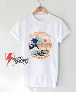 Visit-Tatooine-The-Great-Wave-T-Shirt