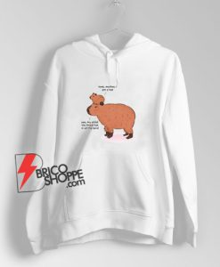 Look-Mother-I-Am-A-Hat-Yes-My-Child-Capybara-Hoodie
