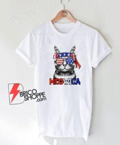 4th of July Meowica T-Shirt - Funny Shirt
